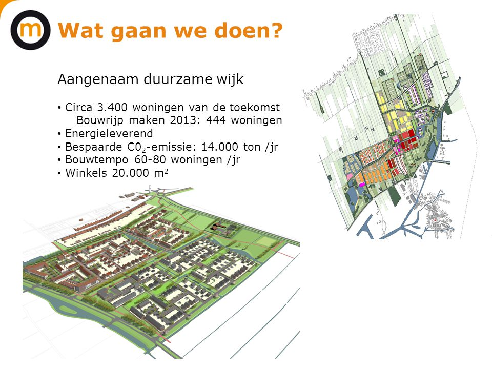 Wat gaan we doen Aangenaam duurzame wijk