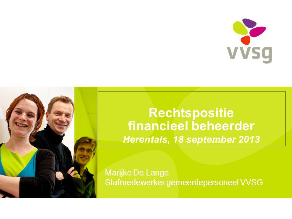 Rechtspositie financieel beheerder Herentals, 18 september 2013