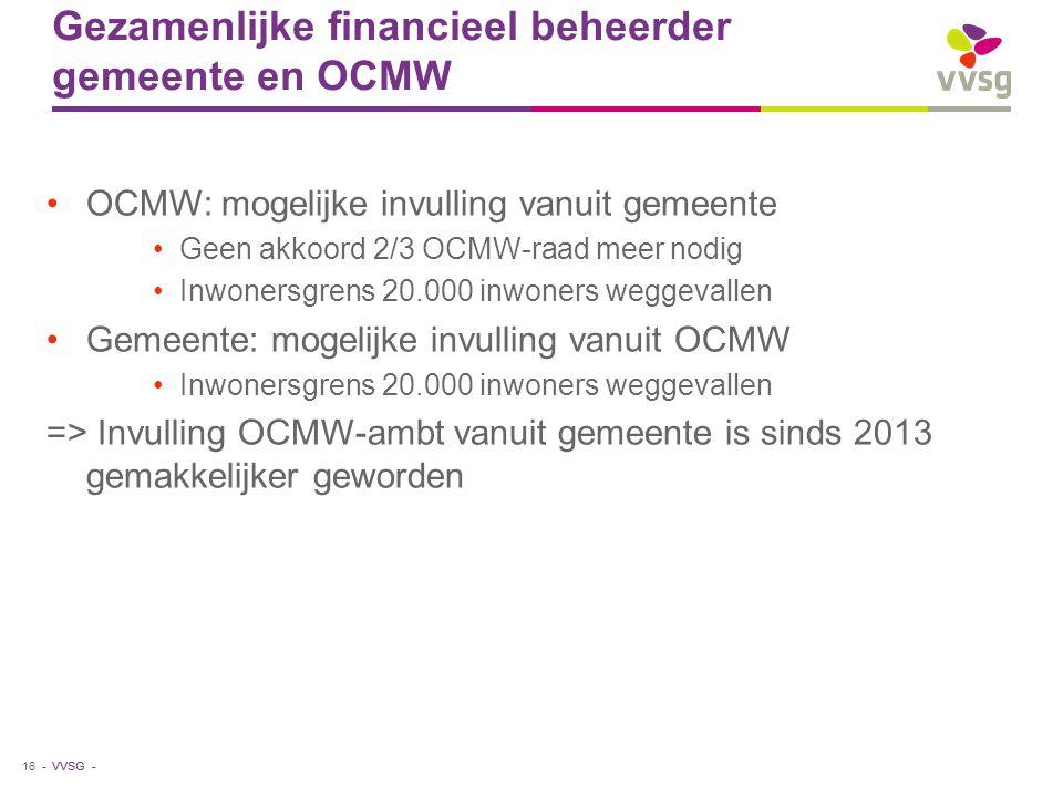 Gezamenlijke financieel beheerder gemeente en OCMW