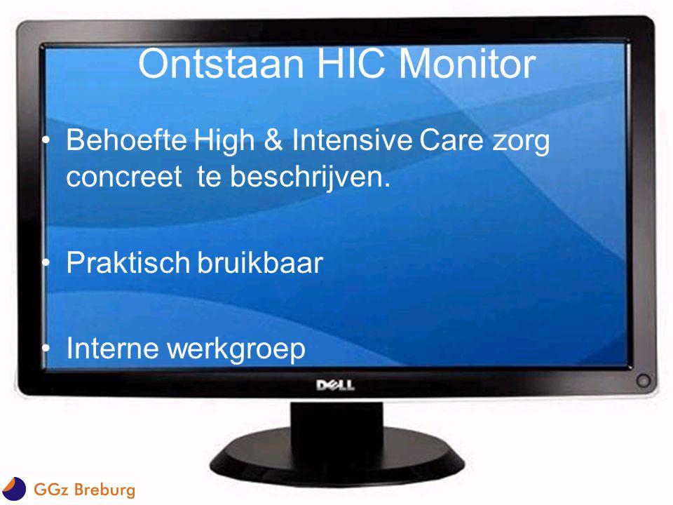Ontstaan HIC Monitor Behoefte High & Intensive Care zorg concreet te beschrijven. Praktisch bruikbaar.