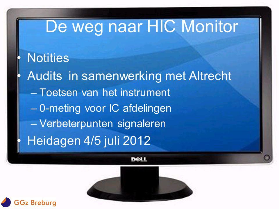De weg naar HIC Monitor Notities Audits in samenwerking met Altrecht