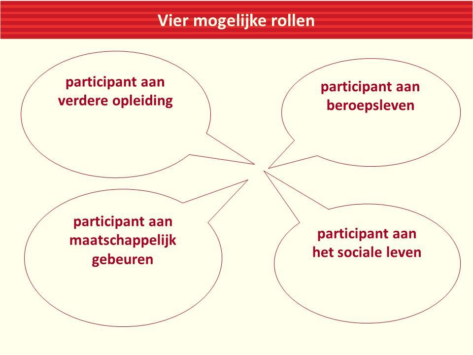 Vier mogelijke rollen participant aan verdere opleiding