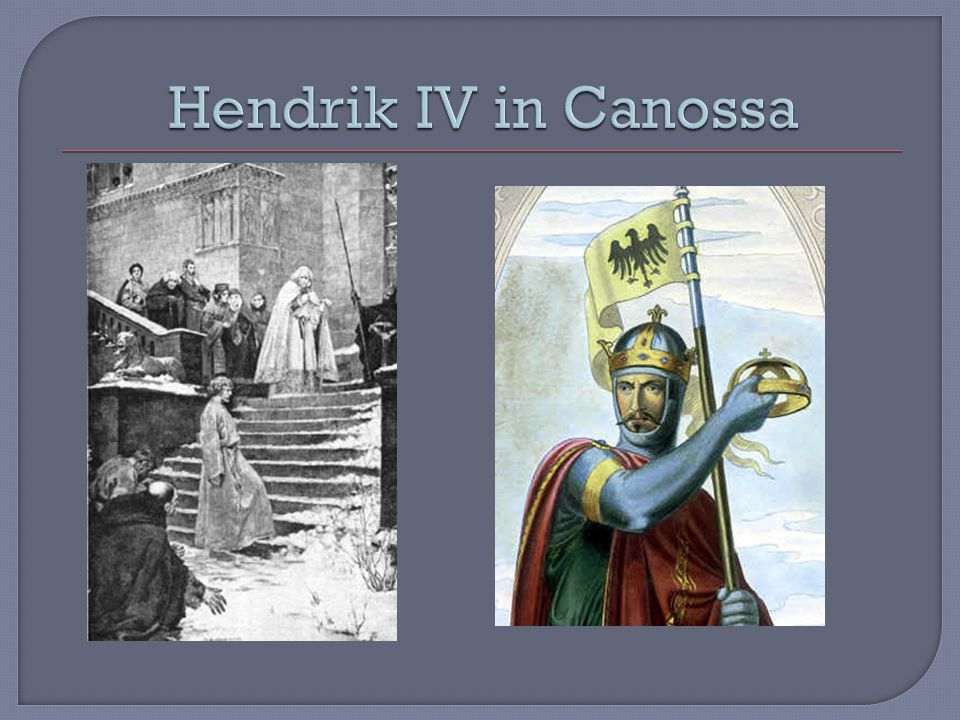 Hendrik IV in Canossa