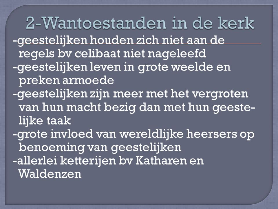 2-Wantoestanden in de kerk