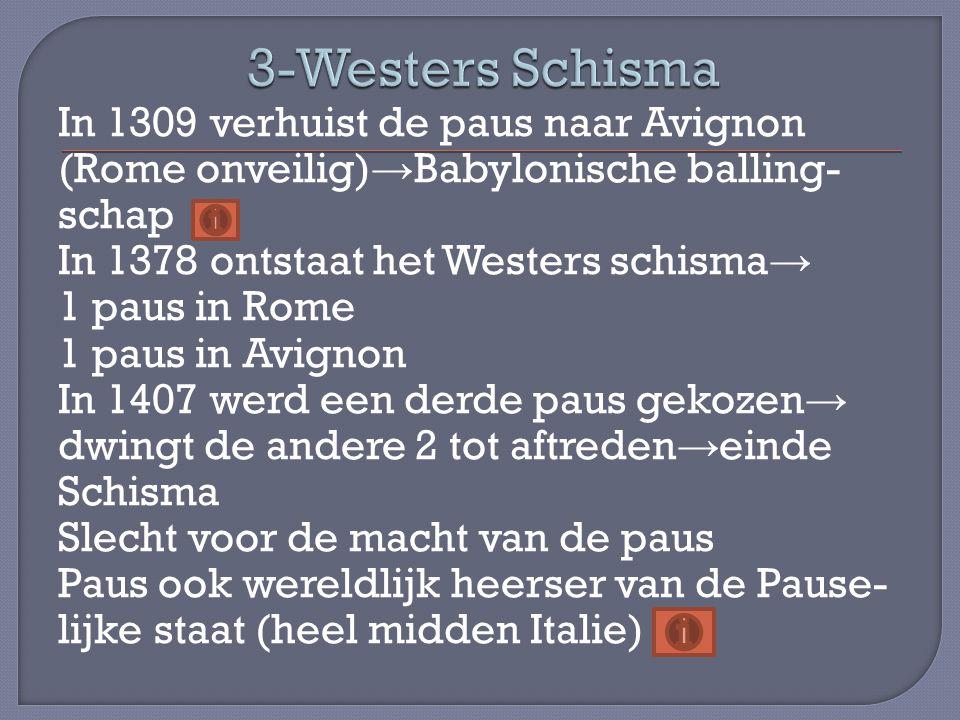 3-Westers Schisma