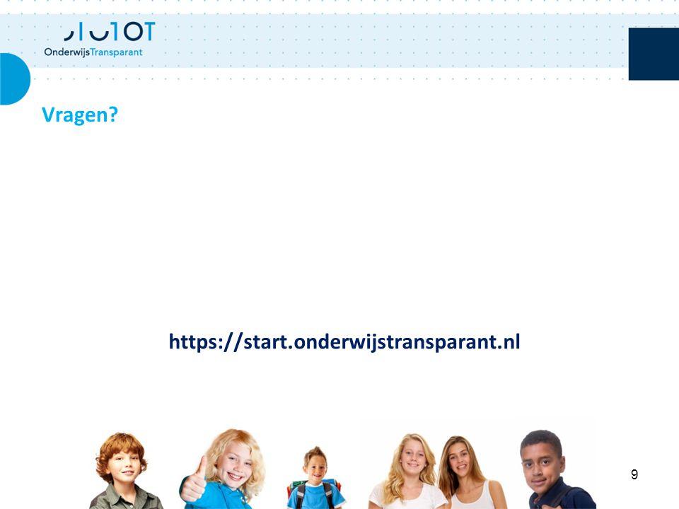 Vragen https://start.onderwijstransparant.nl