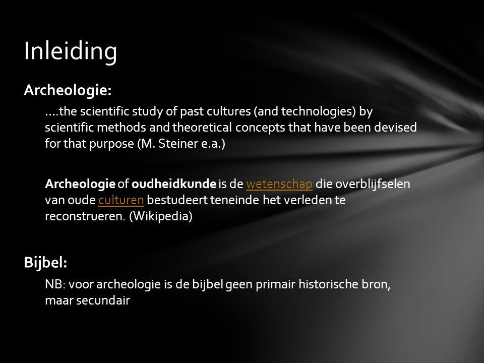 Inleiding Archeologie: Bijbel: