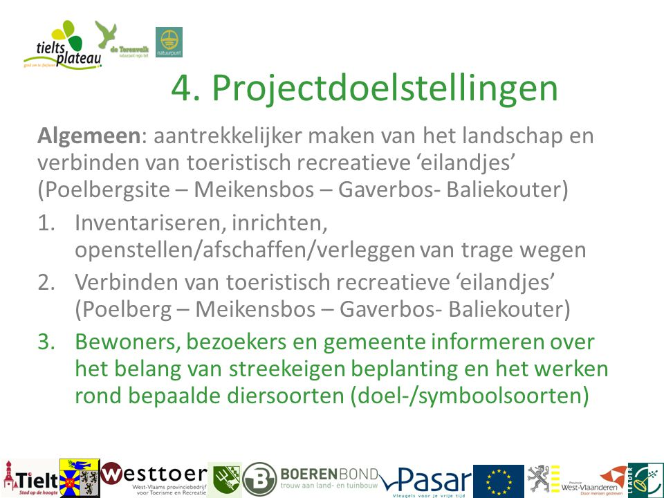 4. Projectdoelstellingen