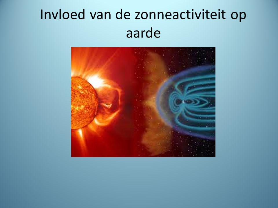 Invloed van de zonneactiviteit op aarde