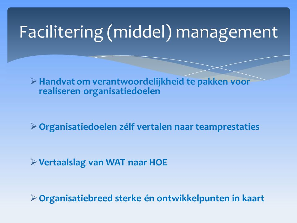 Facilitering (middel) management