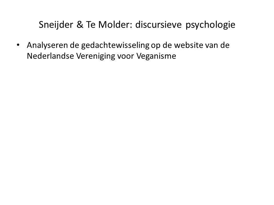 Sneijder & Te Molder: discursieve psychologie