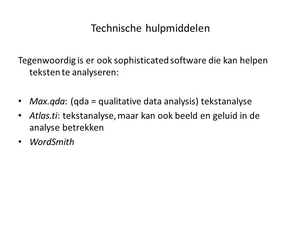 Technische hulpmiddelen