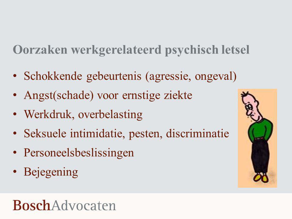 Oorzaken werkgerelateerd psychisch letsel
