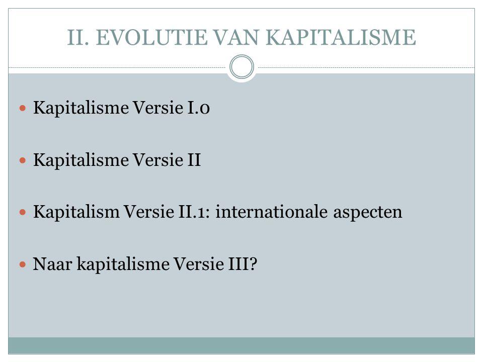 II. EVOLUTIE VAN KAPITALISME