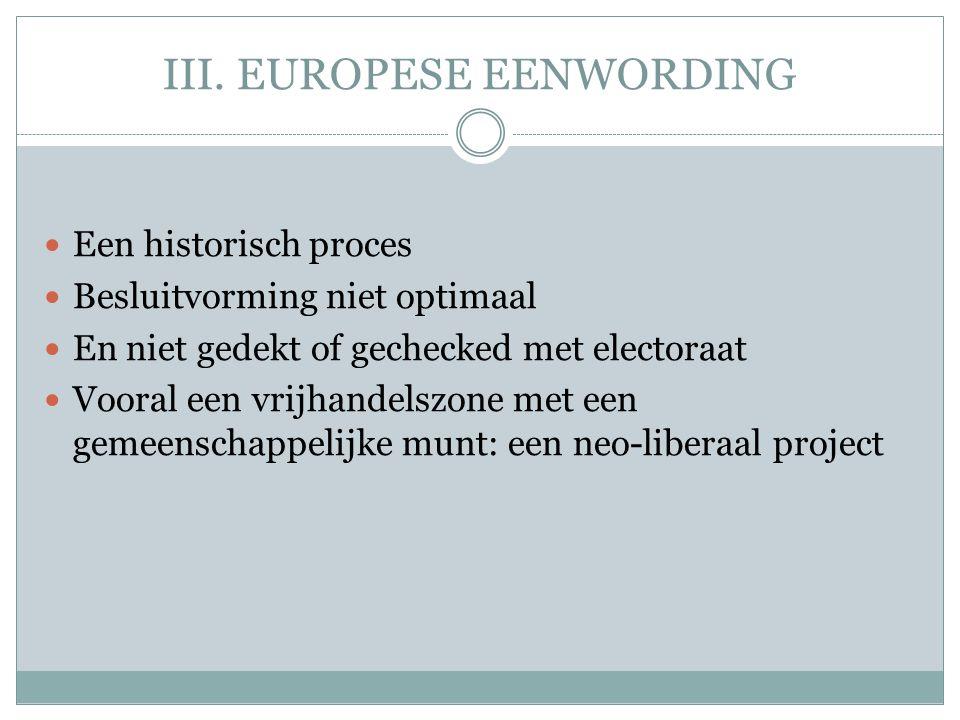 III. EUROPESE EENWORDING
