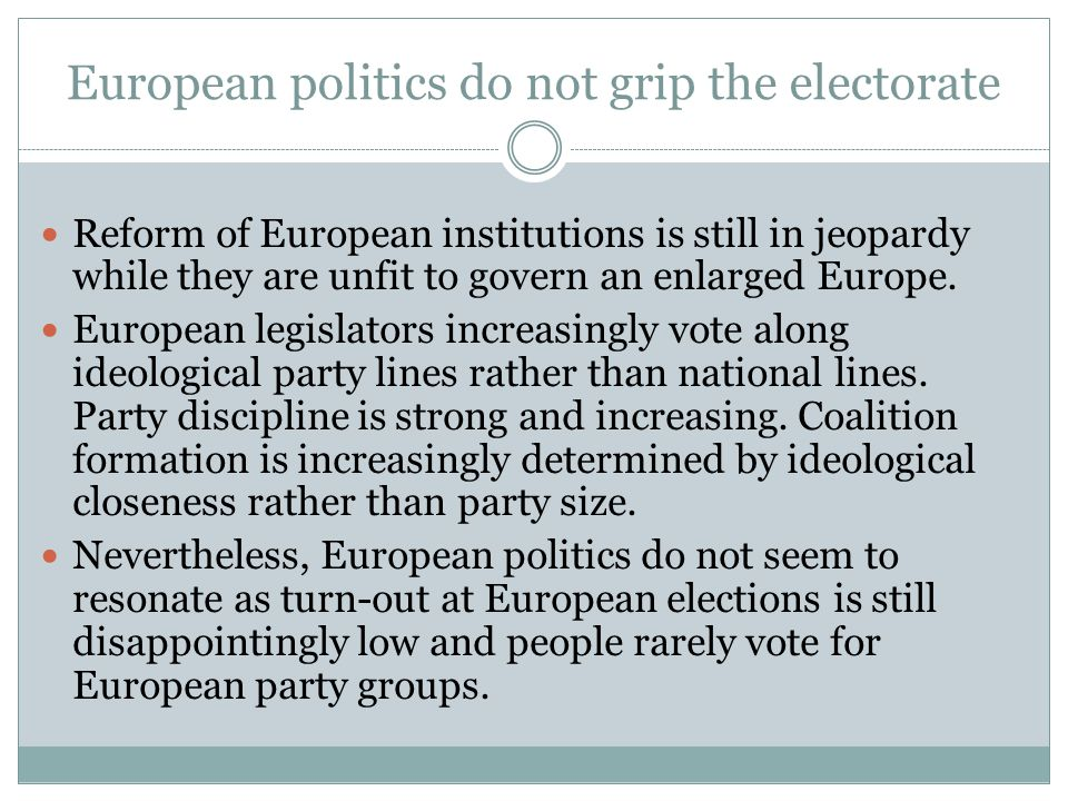 European politics do not grip the electorate