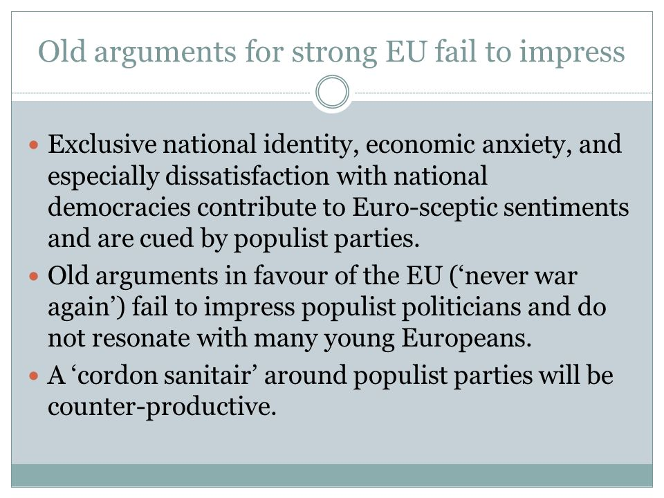 Old arguments for strong EU fail to impress