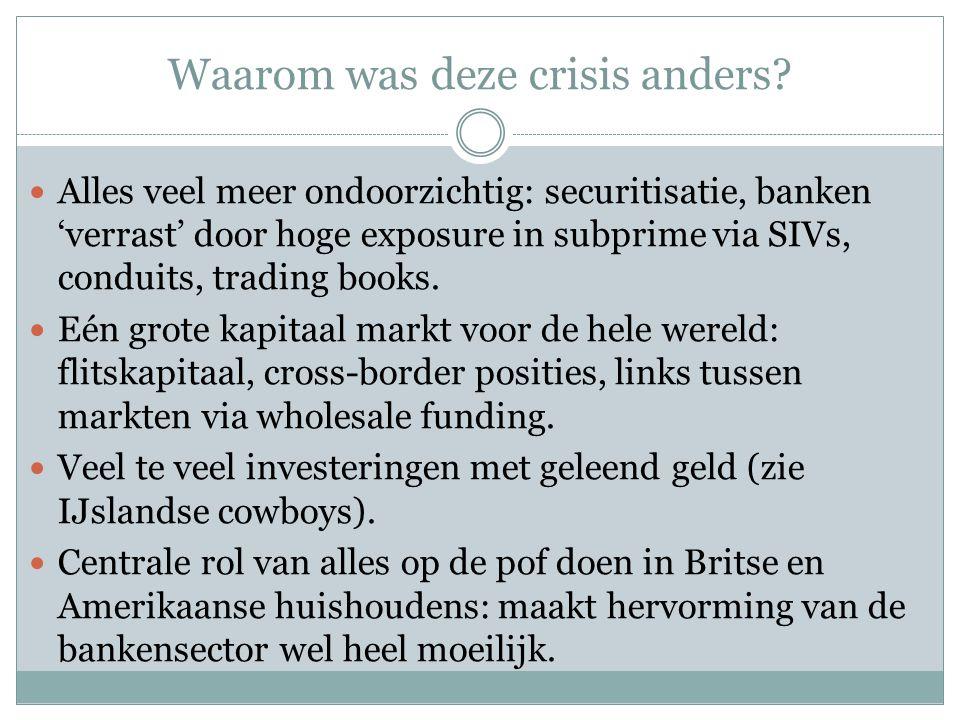 Waarom was deze crisis anders