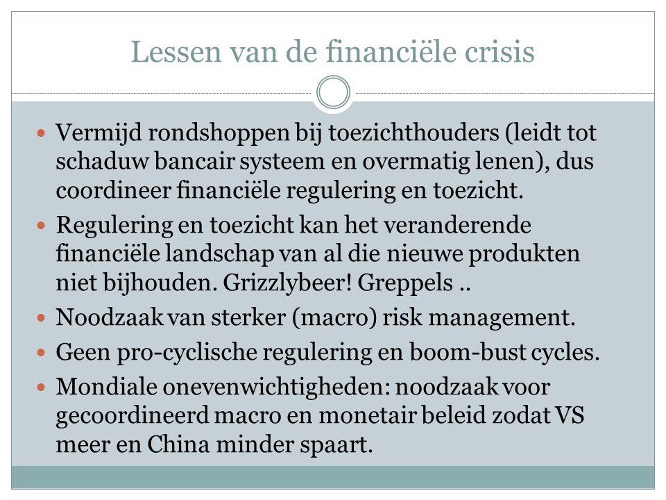 Lessen van de financiële crisis