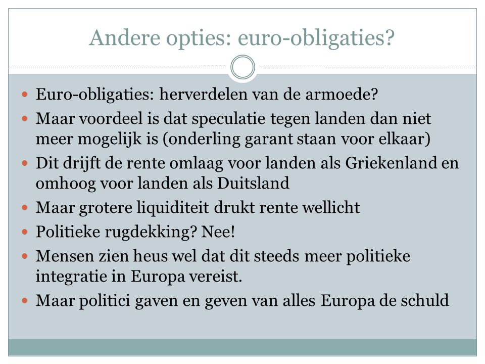 Andere opties: euro-obligaties