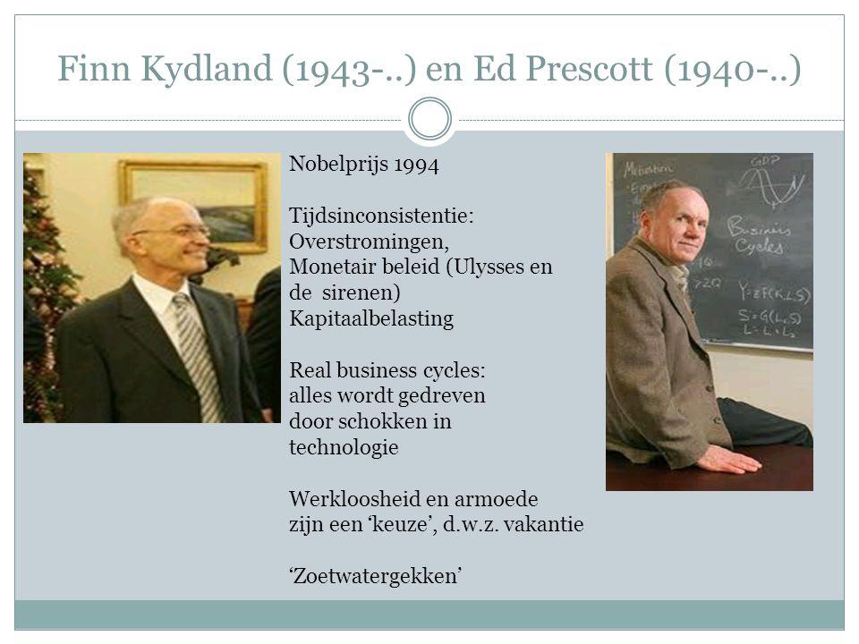 Finn Kydland (1943-..) en Ed Prescott (1940-..)