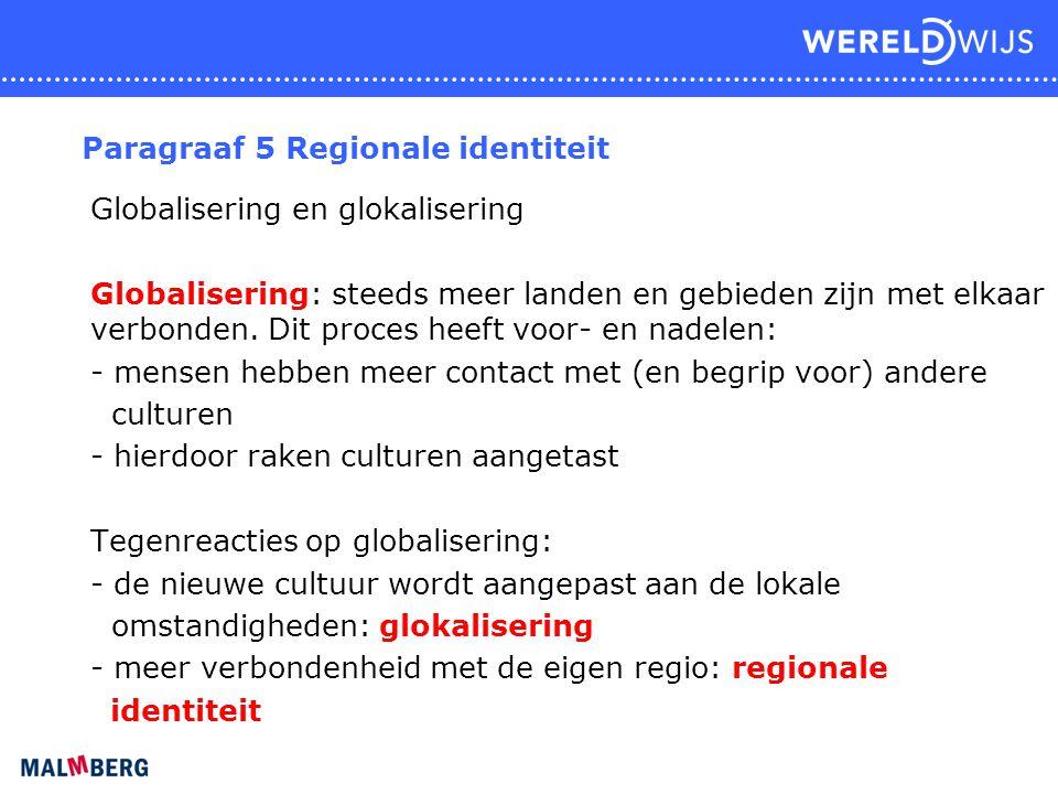 Paragraaf 5 Regionale identiteit