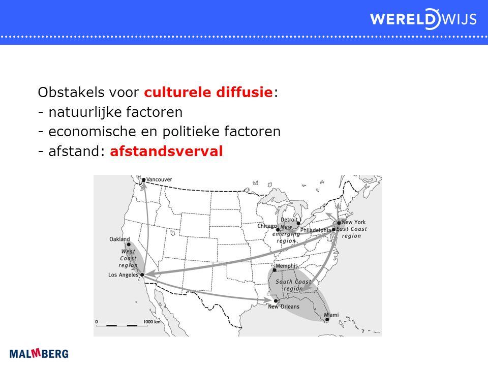 Obstakels voor culturele diffusie: