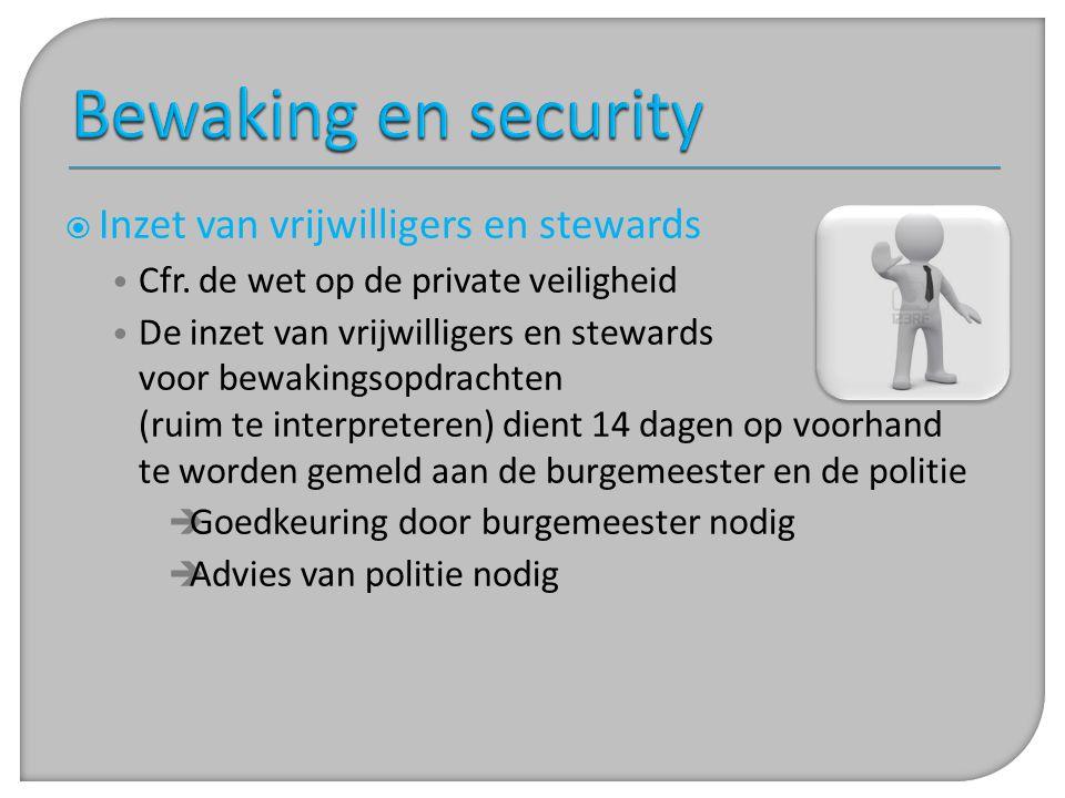 Bewaking en security Inzet van vrijwilligers en stewards
