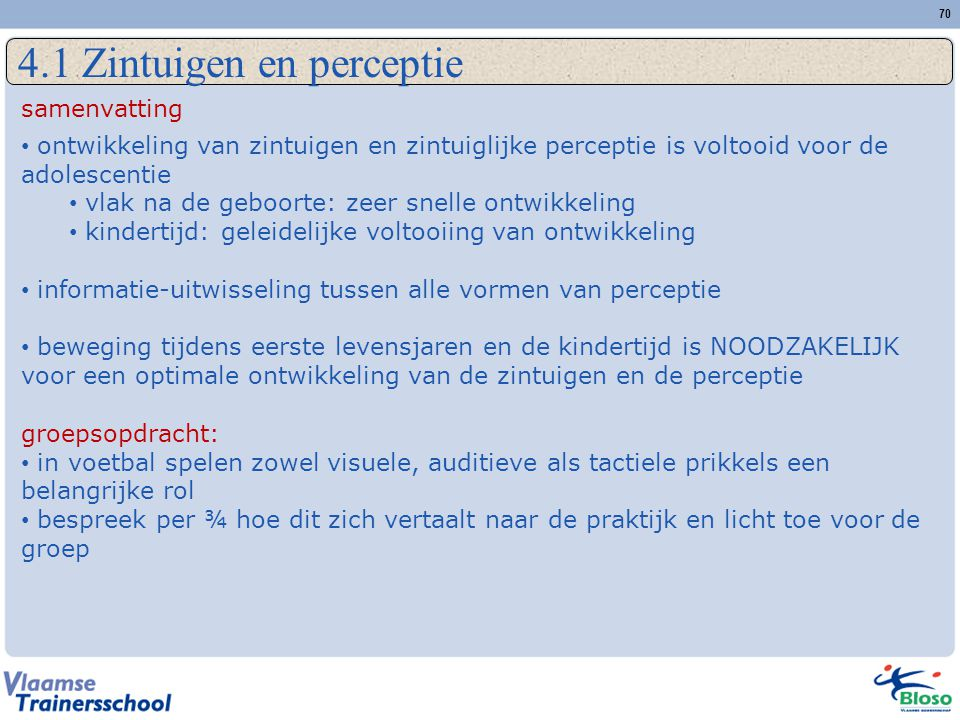 4.1 Zintuigen en perceptie