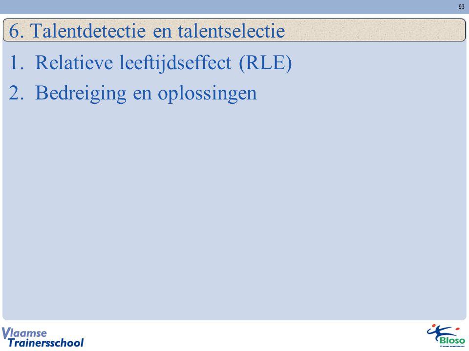 6. Talentdetectie en talentselectie