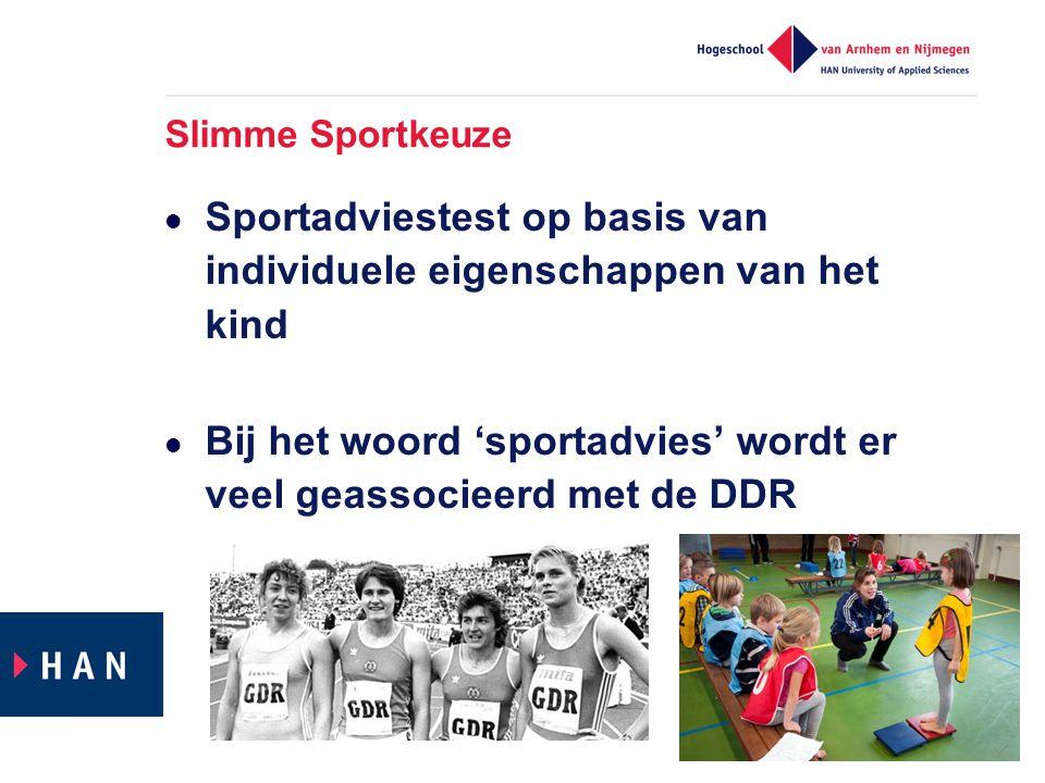 Sportadviestest op basis van individuele eigenschappen van het kind