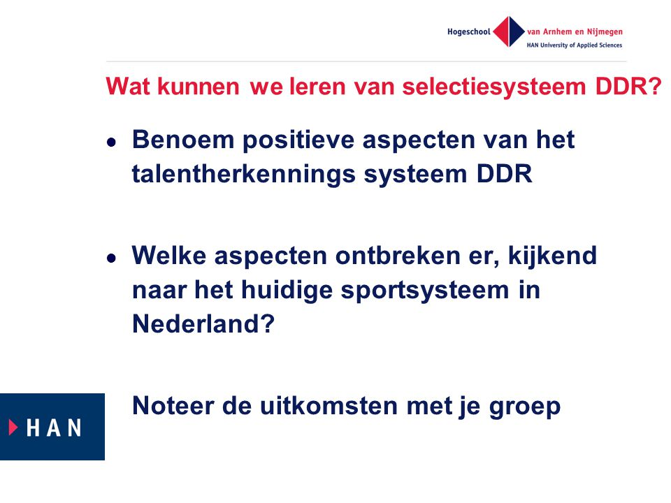 Wat kunnen we leren van selectiesysteem DDR