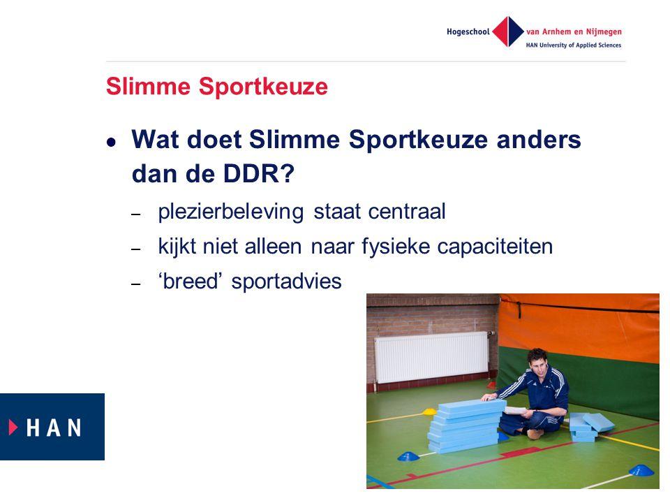 Wat doet Slimme Sportkeuze anders dan de DDR