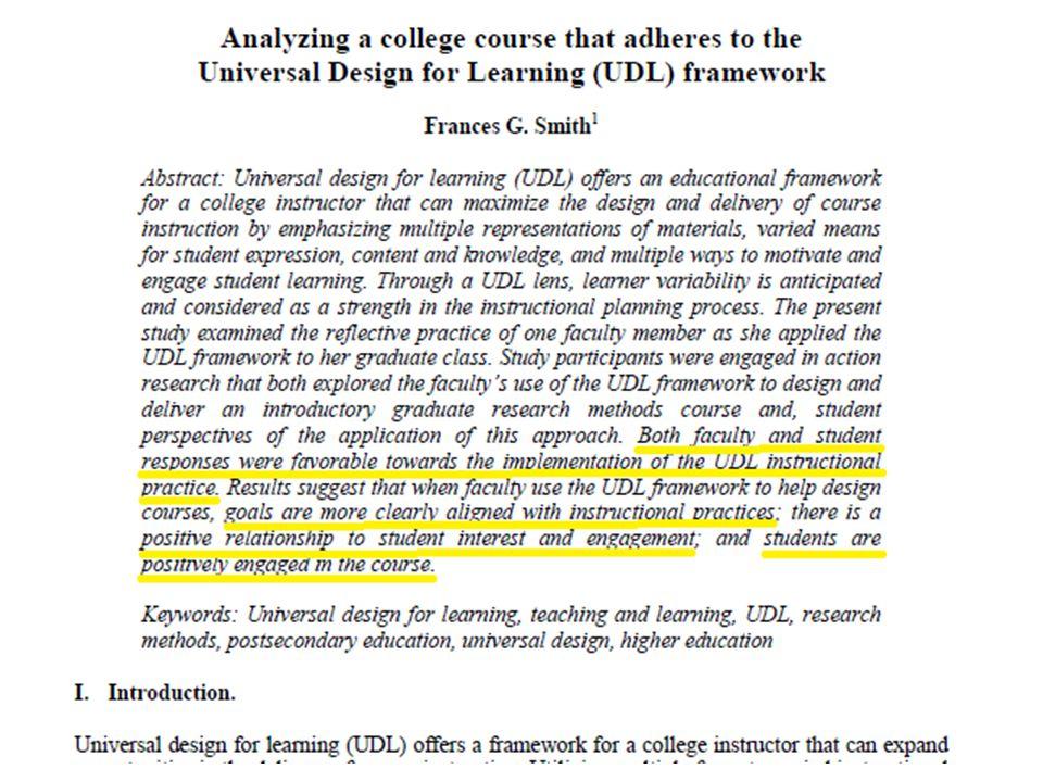 Effect toepassing UDL: