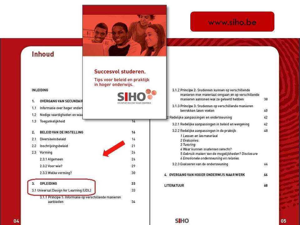 www.siho.be We hebben ook een website www.siho.be, met heel wat informatie en materiaal.