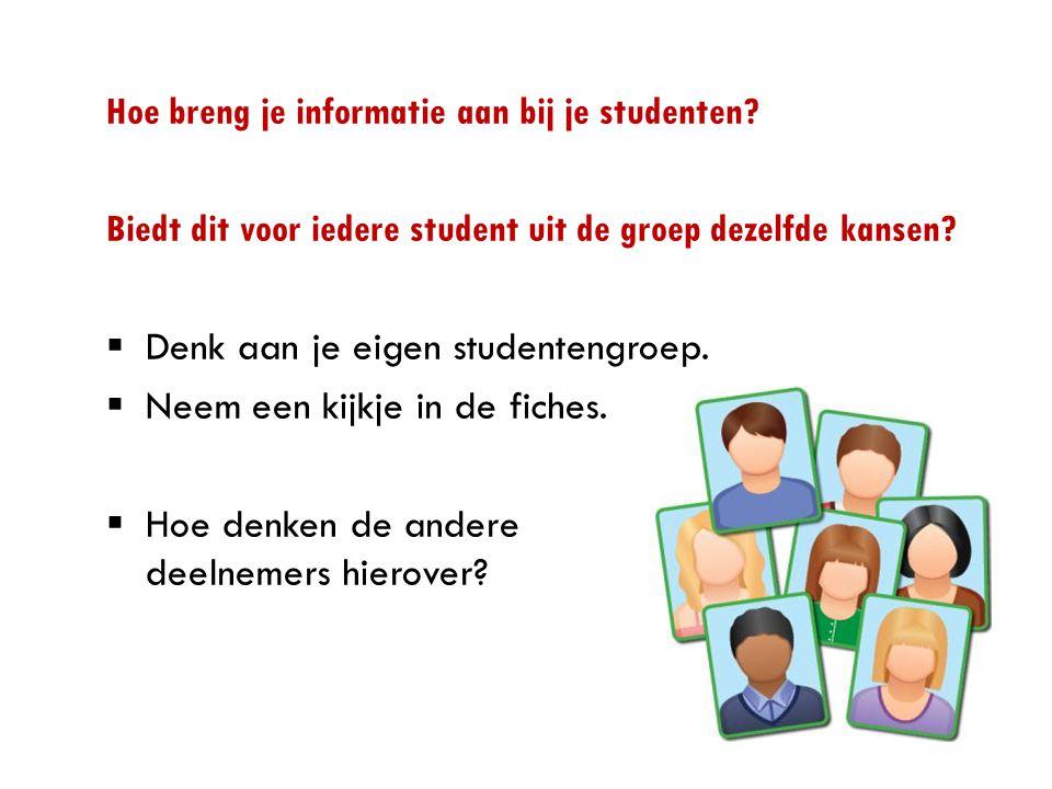 Hoe breng je informatie aan bij je studenten