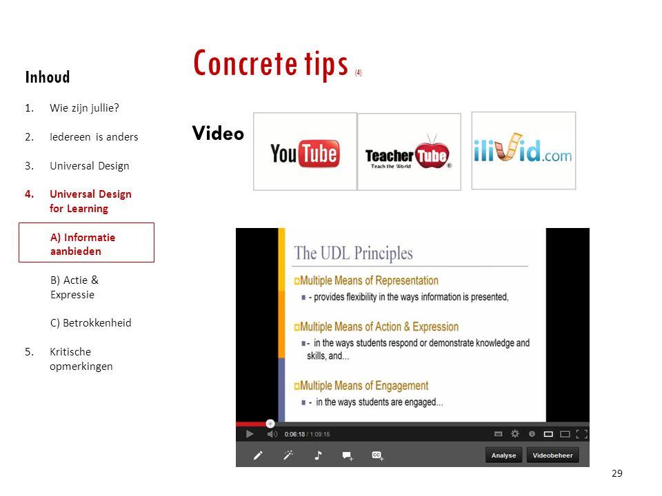 Concrete tips (4) Video Inhoud Wie zijn jullie Iedereen is anders