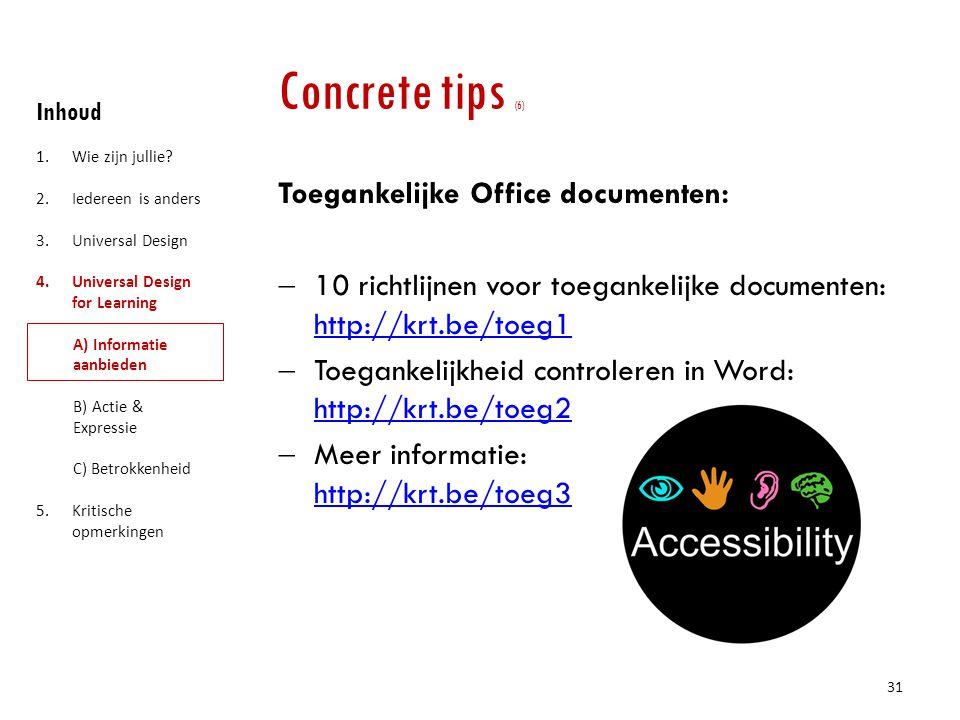 Concrete tips (6) Toegankelijke Office documenten: