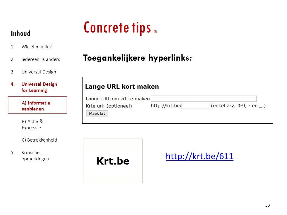 Concrete tips (8) Toegankelijkere hyperlinks: