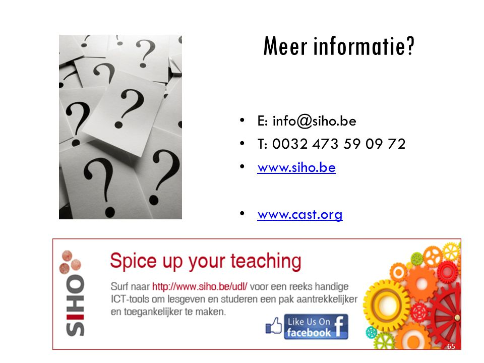 Meer informatie E: info@siho.be T: 0032 473 59 09 72 www.siho.be