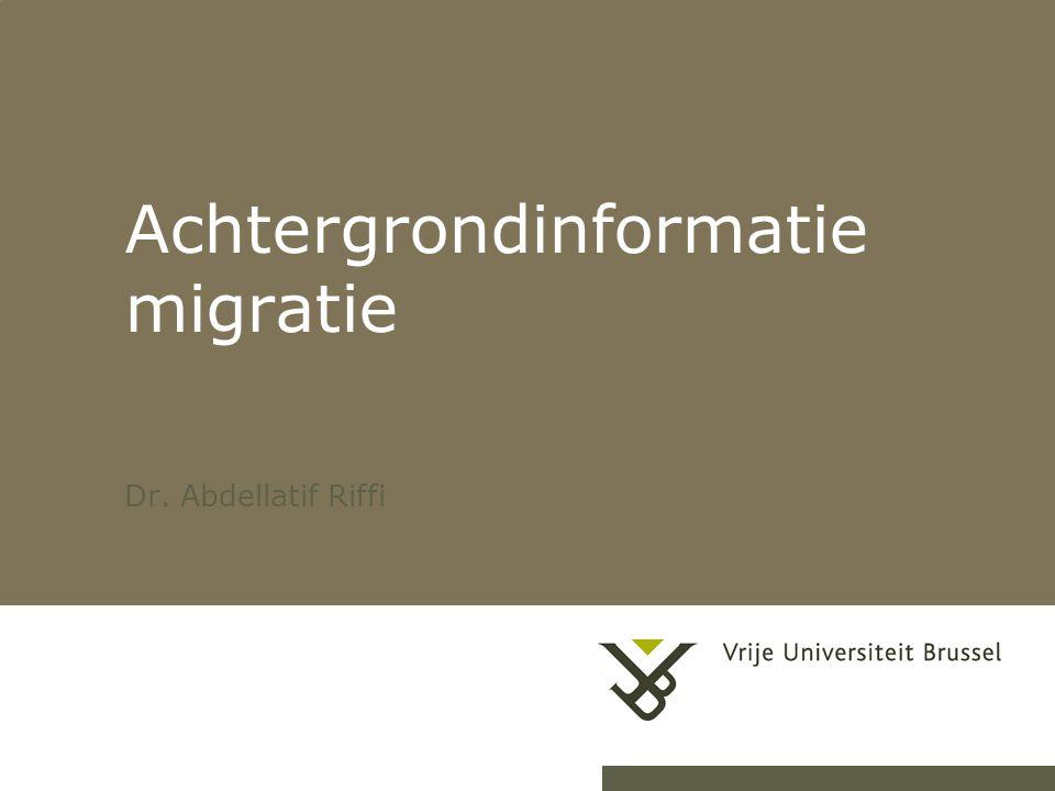 Achtergrondinformatie migratie