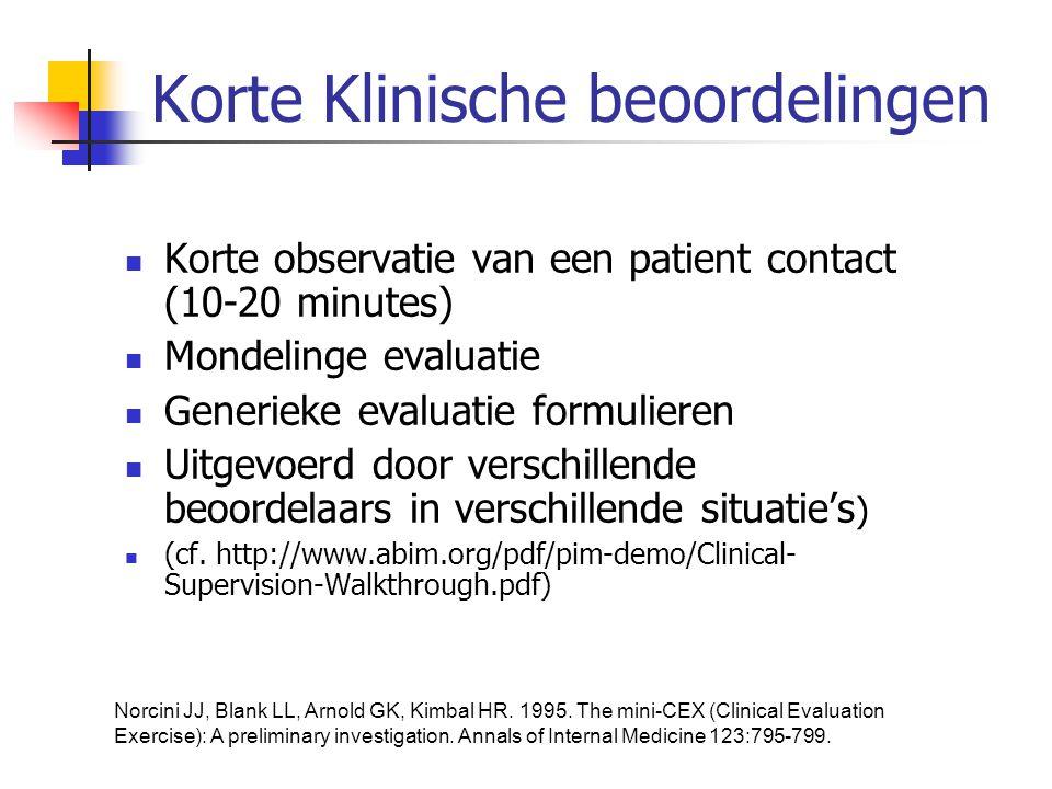 Korte Klinische beoordelingen