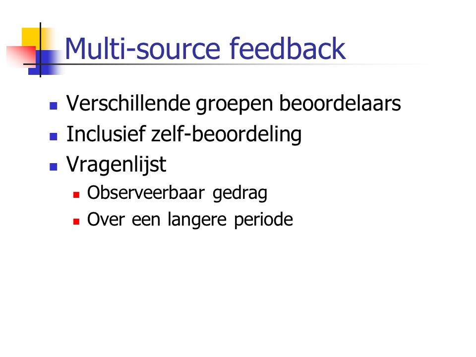 Multi-source feedback