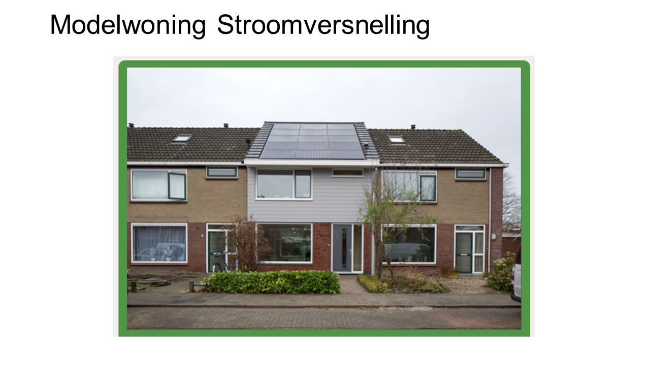 Modelwoning Stroomversnelling