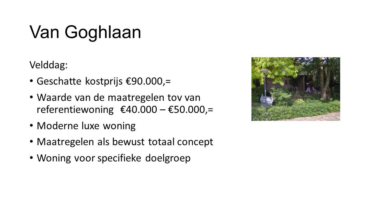 Van Goghlaan Velddag: Geschatte kostprijs €90.000,=