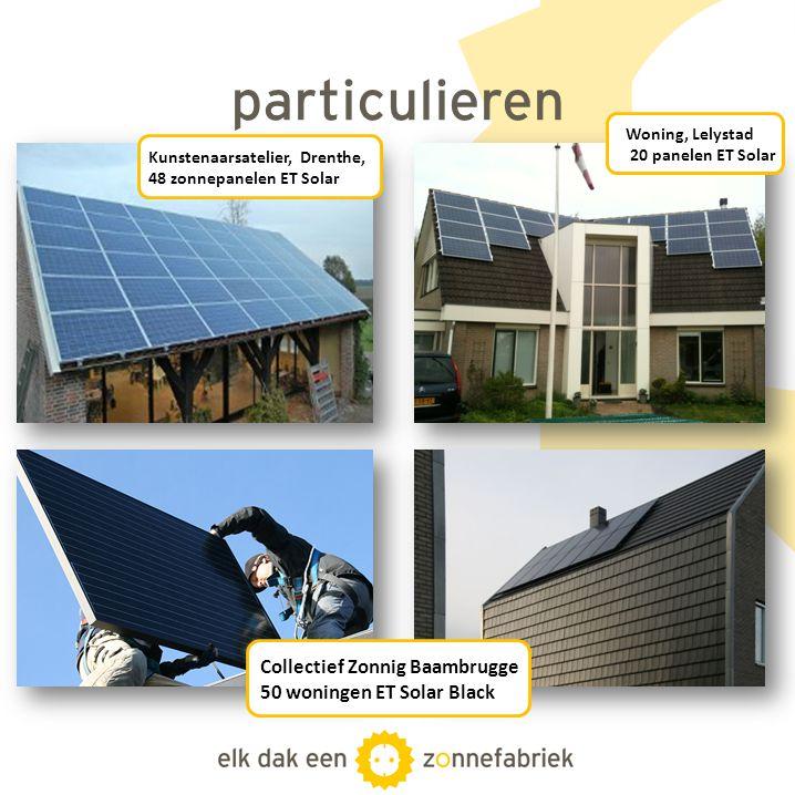 particulieren Collectief Zonnig Baambrugge 50 woningen ET Solar Black