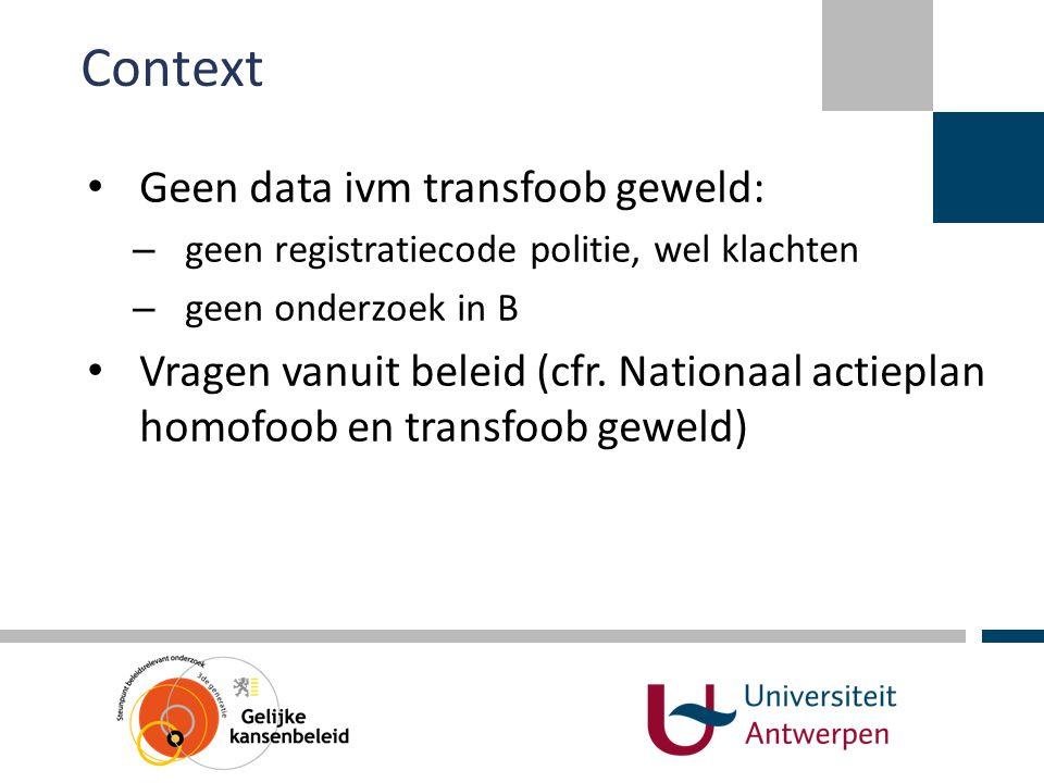 Context Geen data ivm transfoob geweld: