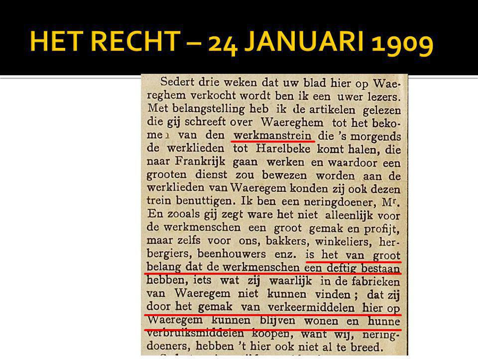 HET RECHT – 24 JANUARI 1909 Story Tellers - Every Success Story has a History