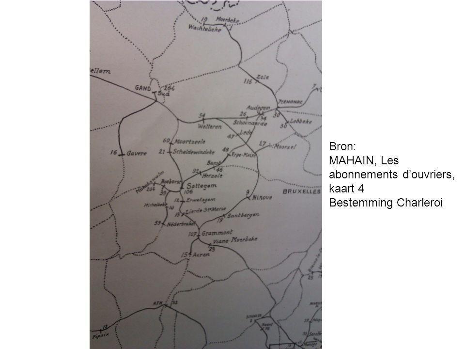 MAHAIN, Les abonnements d'ouvriers, kaart 4