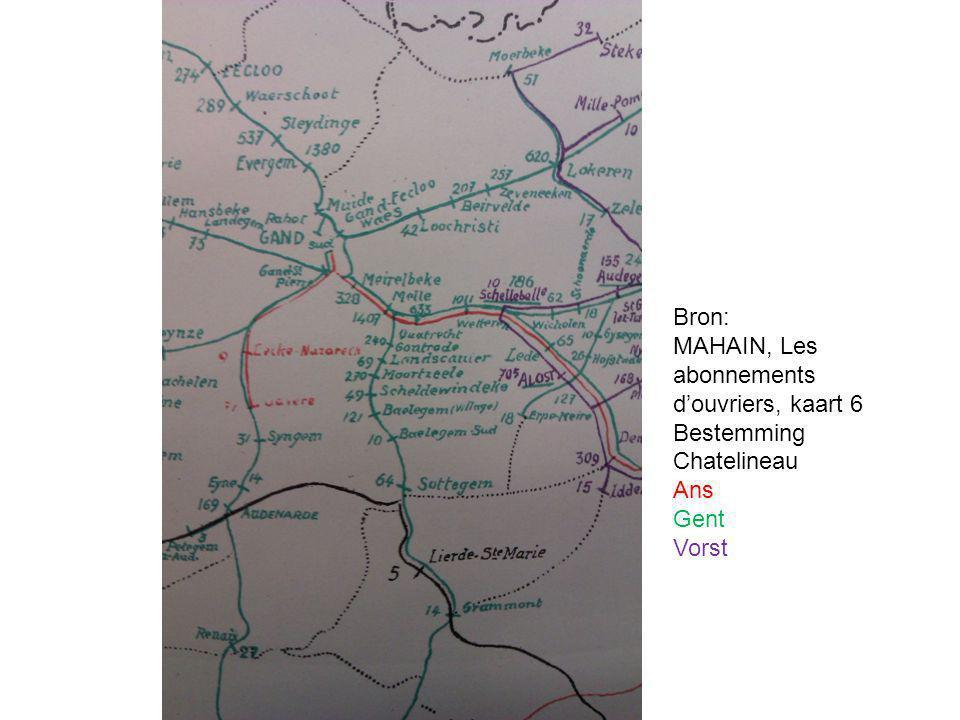 MAHAIN, Les abonnements d'ouvriers, kaart 6